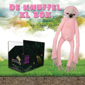 Knuffel XL Box Roze luiaard